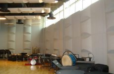 acoustic diffusers in music room