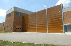 brown sound barrier wall