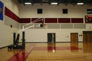 acoustic panels in gymnasium