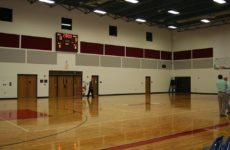 gymnasium fabric wrapped panels
