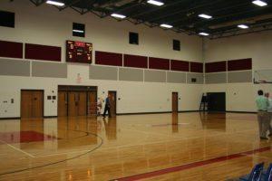 gymnasium fabric wrapped panels