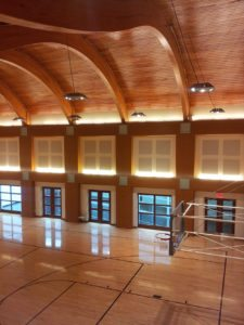 commercial acoustic panels in gymnasium