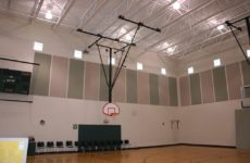 noise absorption panels in multi-purpose room