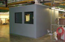 grey soundproof enclosure
