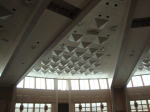 noise diffusers in lobby