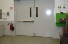 two indoor acoustical doors