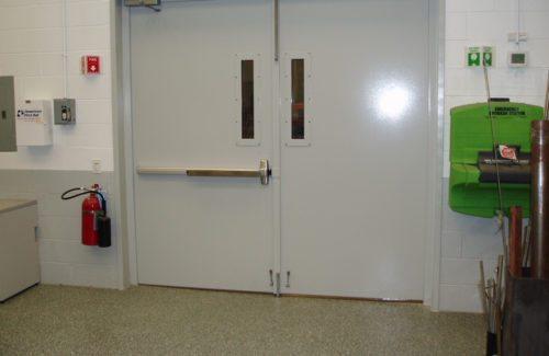 two indoor acoustical doors
