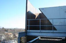 rooftop sound absorbing barrier walls