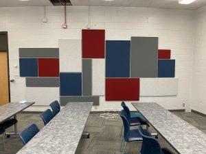 Classroom fabric panels